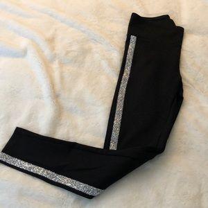 Express black rhinestone leggings